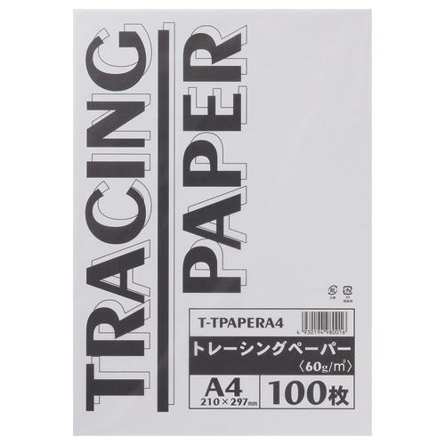 TANOSEE トレーシングペーパー60g A4 1パック(100枚)