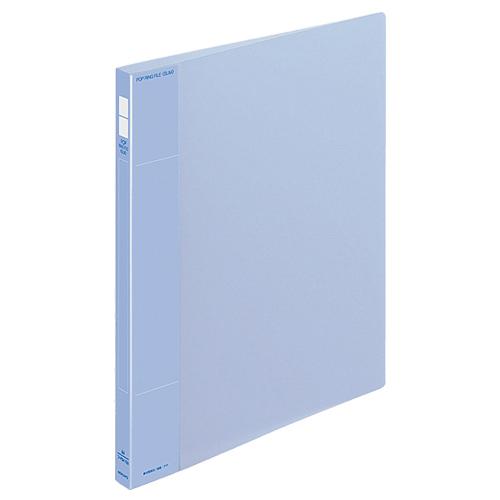 コクヨ ポップリングファイル(スリム) A4タテ 2穴 100枚収容 背幅21mm 青 フ-PS410B 1冊