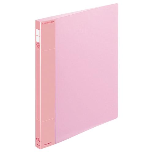 コクヨ ポップリングファイル(スリム) A4タテ 2穴 100枚収容 背幅21mm ピンク フ-PS410P 1冊