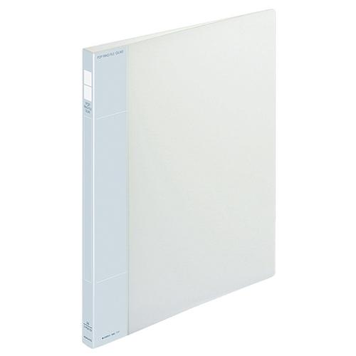 コクヨ ポップリングファイル(スリム) A4タテ 2穴 100枚収容 背幅21mm 透明 フ-PS410T 1冊