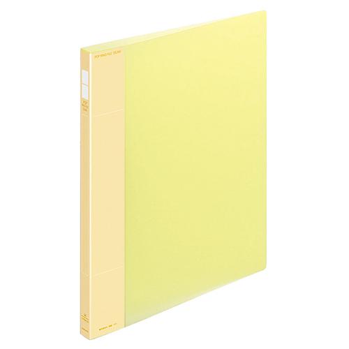コクヨ ポップリングファイル(スリム) A4タテ 2穴 100枚収容 背幅21mm 黄 フ-PS410Y 1冊