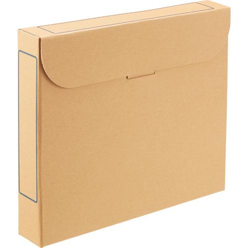 TANOSEE ファイルボックス A4 背幅53mm ナチュラル 1パック(5冊)
