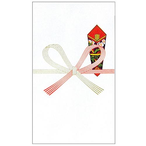 赤城 のり付万円袋 祝無地 フ5151 1パック(10枚)