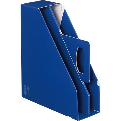 コクヨ ファイルボックス取っ手付き・スタンドタイプ ブルー フ-KES470B 1冊