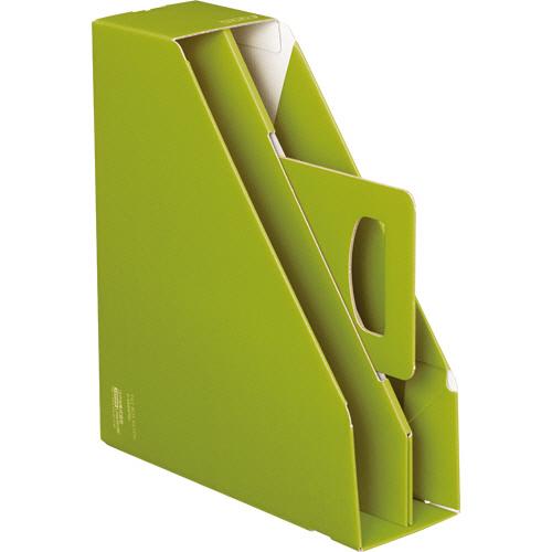 コクヨ ファイルボックス取っ手付き・スタンドタイプ グリーン フ-KES470G 1冊