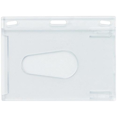オープン工業 名札用ケース ハードタイプ IDカードサイズ NB-43 1パック(10枚)