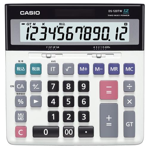 カシオ ビジネス電卓 12桁 デスクタイプ DS-120TW 1台