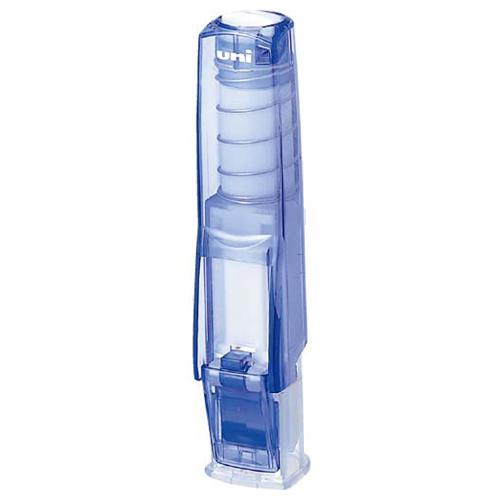 三菱鉛筆 ワンタッチ式印鑑ホルダー「はん蔵」 透明青 HLD502T.33 1個
