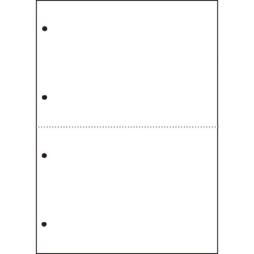 TANOSEE 汎用マルチタイププリンタ帳票 白紙 A4 2分割 4穴 1箱(2500枚:500枚×5冊)