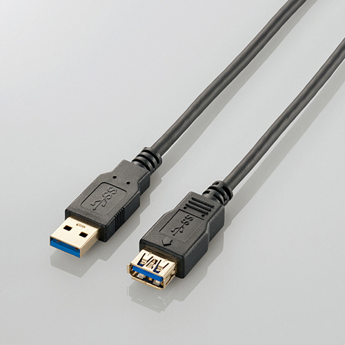エレコム USB3.0延長ケーブル Aオス-Aメス 1.0m ブラック USB3-E10BK 1本