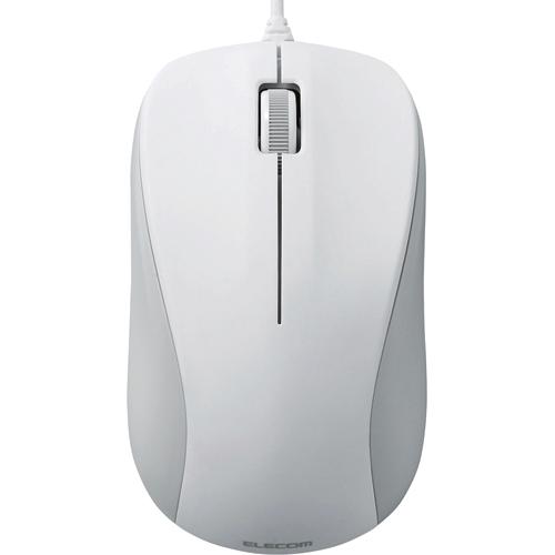 エレコム USBレーザーマウス 3ボタン RoHS指令準拠 ホワイト M-S2ULWH/RS 1個