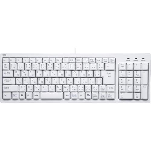サンワサプライ コンパクトキーボード ホワイト SKB-KG2WN 1台
