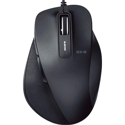 エレコム EX-G 有線BlueLEDマウス Mサイズ ブラック M-XGM10UBBK 1個