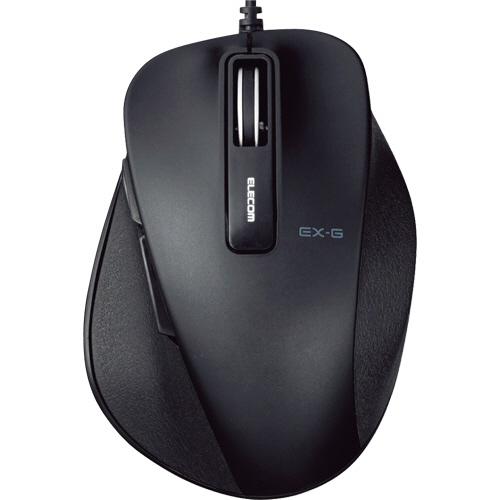 エレコム EX-G 有線BlueLEDマウス Sサイズ ブラック M-XGS10UBBK 1個
