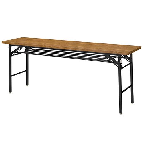 ダイセン 折りたたみテーブル 幅1800×奥行600mm チーク OTK-1860TKT-G 1台