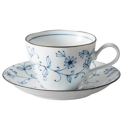 いちがま 線唐草コーヒー碗皿 1セット(5客)