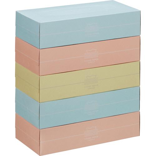 スバル紙販売 ティッシュペーパー Pastel 150組/箱 1パック(5箱)