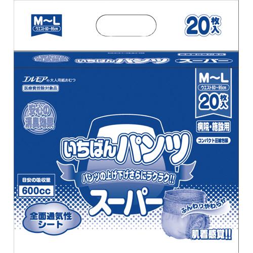 カミ商事 エルモア スーパーいちばんパンツ 長時間 M~L 1パック(20枚)