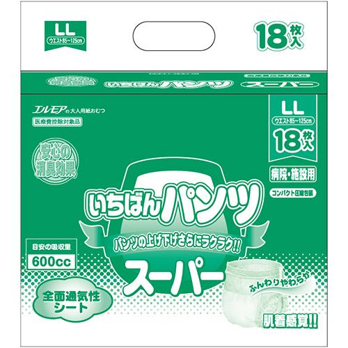 カミ商事 エルモア スーパーいちばんパンツ 長時間 LL 1パック(18枚)