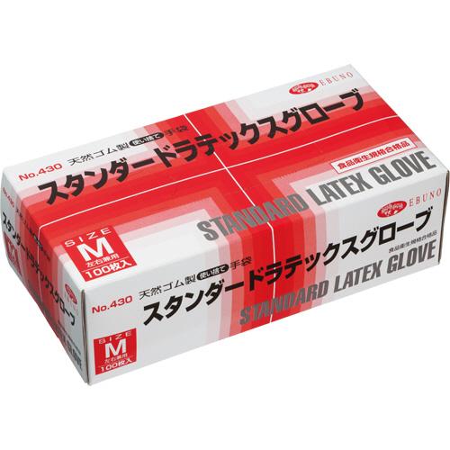 エブノ スタンダードラテックスグローブ No.430 パウダーイン M 1箱(100枚)