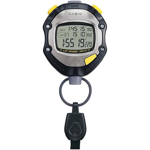 カシオ ストップウォッチ 1/1000秒計測 5気圧防水機能 ブラック HS-70W-1JH 1個