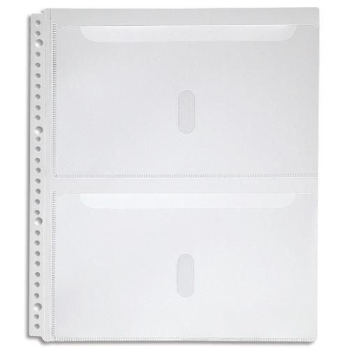 キングジム スキットマン 取扱説明書ファイル専用ポケット 2段タイプ A4タテ 2・4・30穴 2630PA 1パック(4枚)