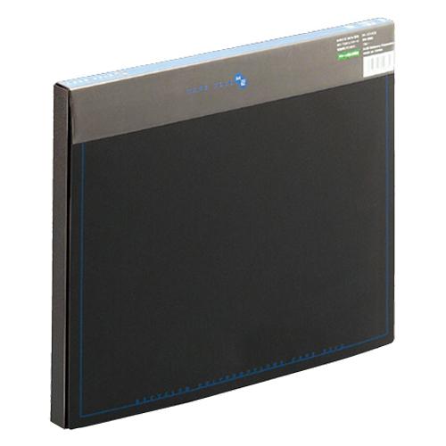 プラス ケースファイル 再生PP A4 背幅20mm ブラック(背見出し色ブルー) FL-131CE 1冊
