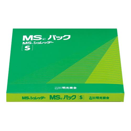 明光商会 シュレッダー用ゴミ袋 MSパック 透明 Sサイズ 1パック(100枚)