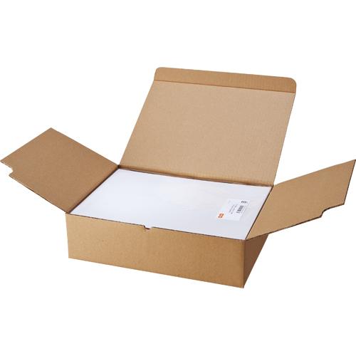 TANOSEE マルチプリンタラベル 業務用パック A4 ノーカット 1箱(500シート:100シート×5冊)