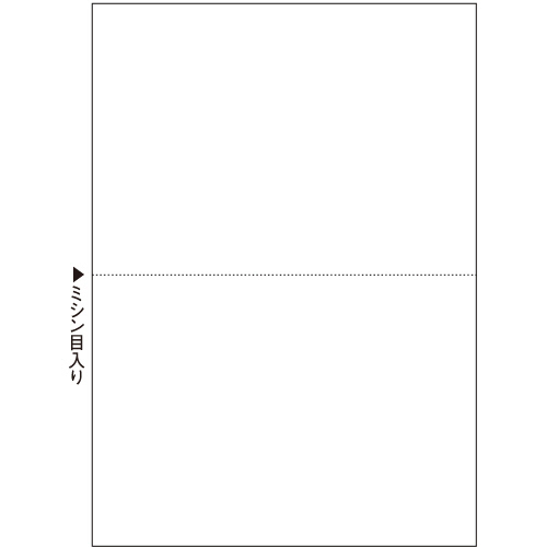 ダイオープリンティング プリンタ用紙 A5白紙・ミシン目入り2分割 CPA520S 1箱(500枚)