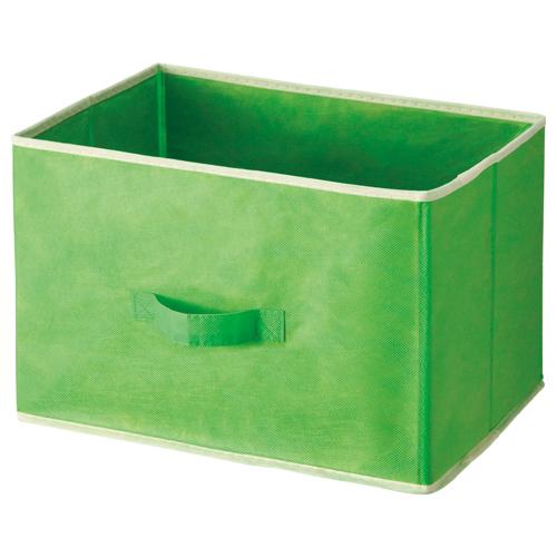 不二貿易 不織布インナーボックス 幅390×奥行250×高さ250mm グリーン 83870 1個