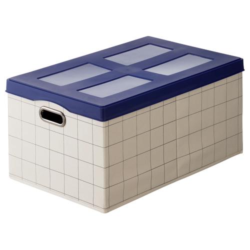 ホームスタイリング 折りたたみスタッキング収納 ファブボックス L 幅350×奥行550×高さ260mm ブルー FB-L-BL 1台