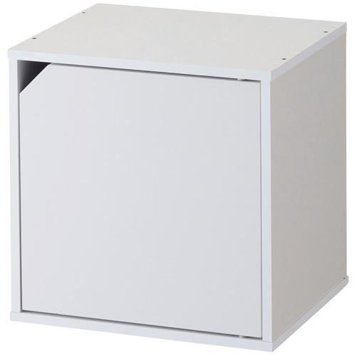 不二貿易 キューブボックス 扉付 幅345×奥行295×高さ345mm ホワイト 81907 1台