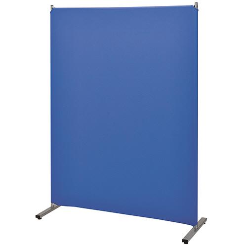 ナカバヤシ 簡易パーティション クロス張り 幅1200×奥行420×高さ1600mm ブルー PTS-1612B 1台