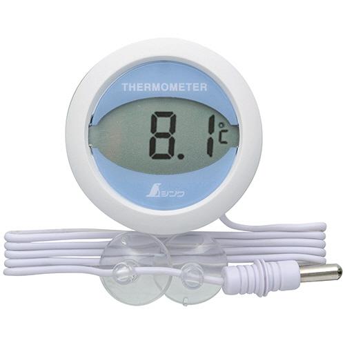 シンワ測定 ホームサーモ デジタル T冷蔵庫用温度計 丸型 72980 1個