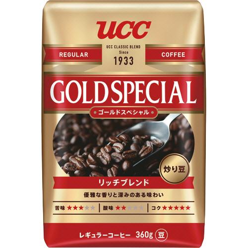 UCC ゴールドスペシャル リッチブレンド 360g(豆) 1袋