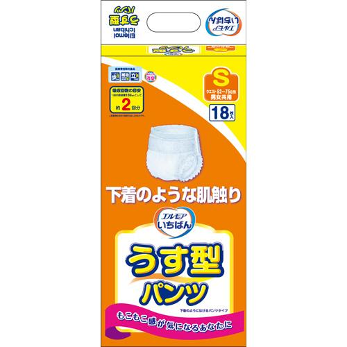 カミ商事 エルモア いちばん うす型パンツ S 1パック(18枚)