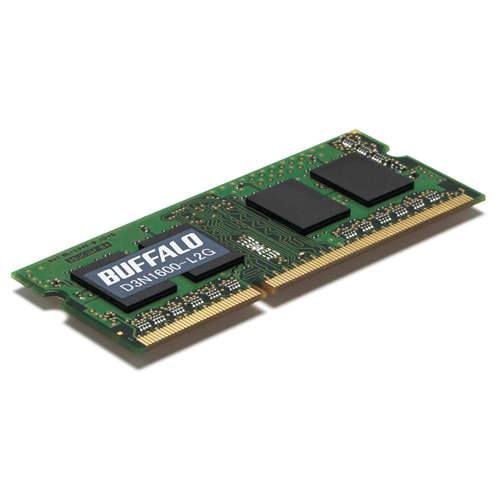 バッファロー 法人向け PC3L-12800 DDR3L 1600MHz 204Pin SDRAM S.O.DIMM 2GB MV-D3N1600-L2G 1枚