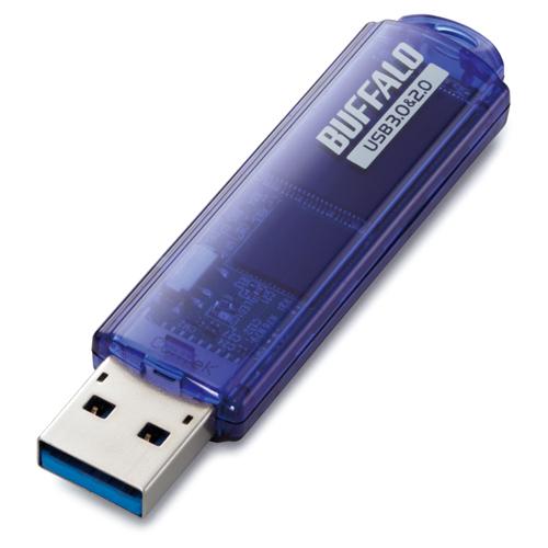 バッファロー USB3.0対応 USBメモリー スタンダードモデル 8GB ブルー RUF3-C8GA-BL 1個