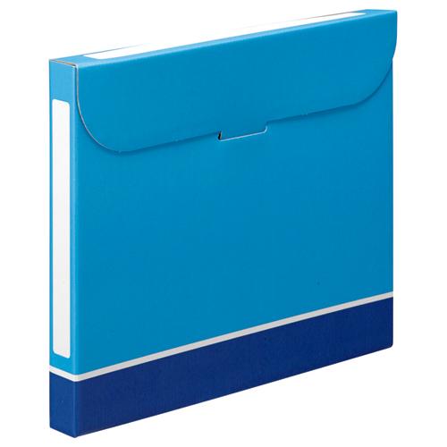 TANOSEE ファイルボックス A4 背幅32mm 青 1パック(5冊)