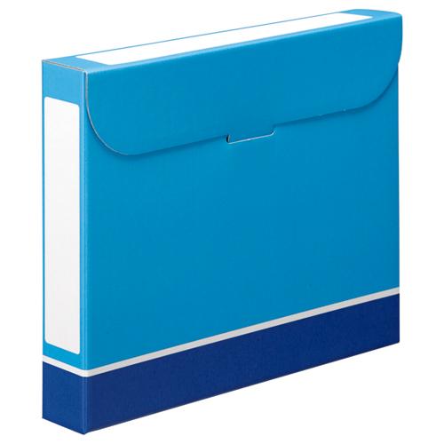 TANOSEE ファイルボックス A4 背幅53mm 青 1パック(5冊)