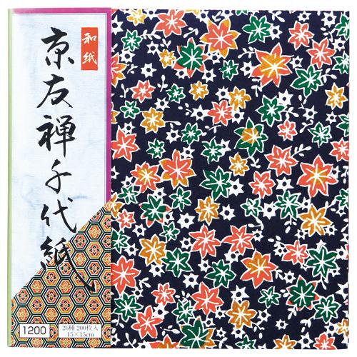 エヒメ紙工 京友禅千代紙 150×150mm 26種 KY-12015 1パック(200枚)