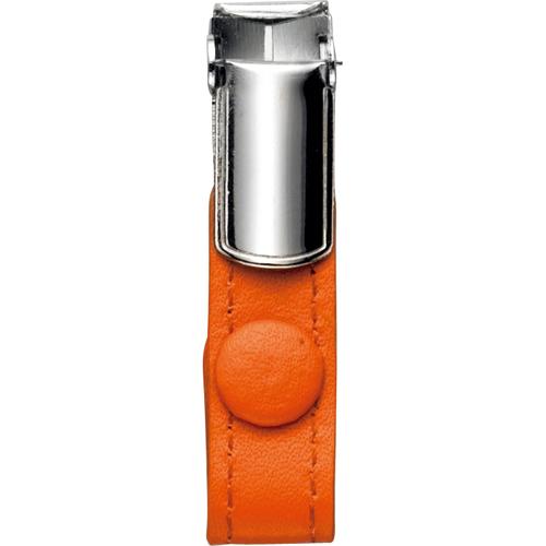フロント 本革製ネームカードホルダー用クリップ オレンジ RLNHCR-O 1個