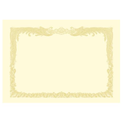 タカ印 OA賞状用紙 クリーム A4 タテ書用 業務用パック 10-1167 1ケース(100枚)