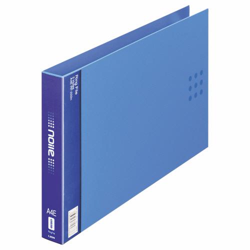ライオン事務器 リングファイル(ノイル) A4ヨコ 2穴 210枚収容 背幅35mm ブルー RF-222n 1冊