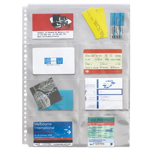 ライオン事務器 分類ポケット A4タテ 2・4・30穴 片面8ポケット BP-8 1パック(5枚)