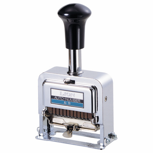 ライオン事務器 ナンバリング A型 11桁3様式 E字体 A-11 1台