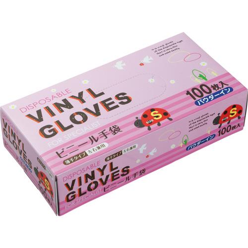 タカマツヤ ビニール手袋 パウダーイン S 1箱(100枚)