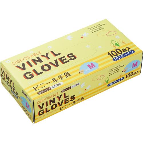 タカマツヤ ビニール手袋 パウダーイン M 1箱(100枚)
