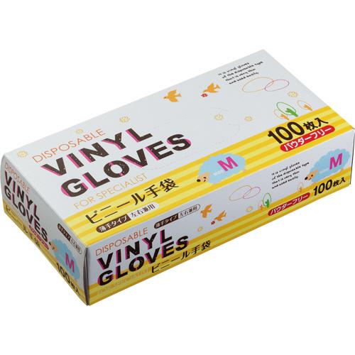タカマツヤ ビニール手袋 パウダーフリー M 1箱(100枚)